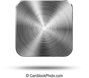Square button metal