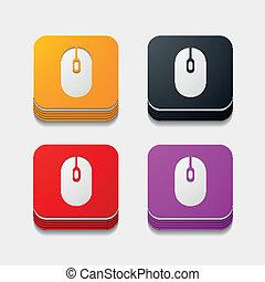 square button: mouse