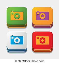 square button: photo