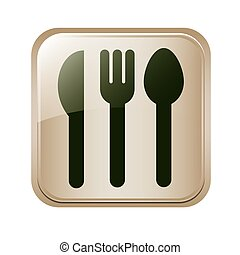 square button set collection cutlery