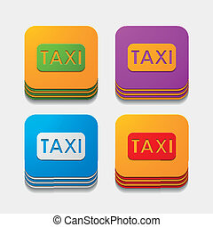 square button: taxi
