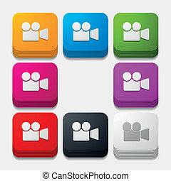 square button: video
