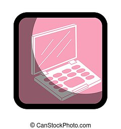 square button with eye shadow set