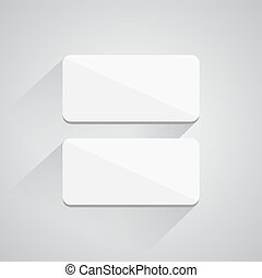 Square buttons on white background