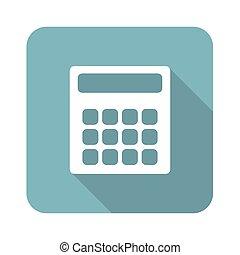 Square calculator icon