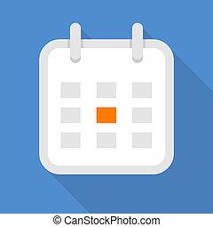 Square calendar icon, flat style