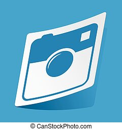 Square camera sticker