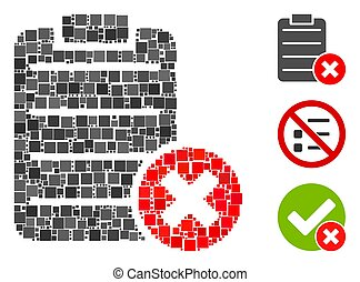 Square Cancel Test Icon Vector Collage