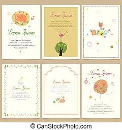 square cards illustration templates. design for event cards