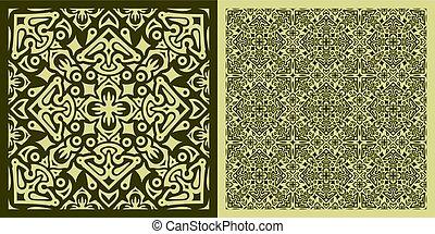 Square carpet pattern