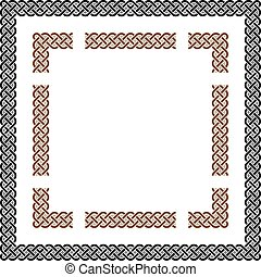 Square Celtic Knots Vector