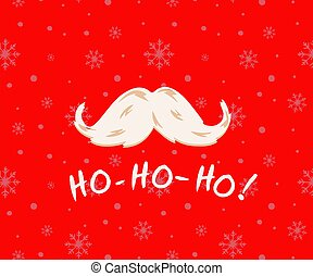Square Christmas card. Speech bubble, snowflakes, Santa ...