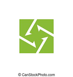square circle arrows negative space logo