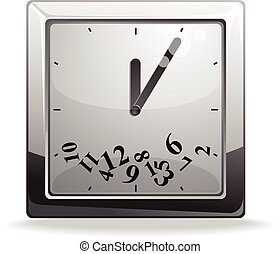 Square clock vector illustration