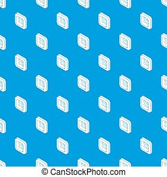 Square clothes button pattern seamless blue