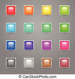 Square colored web buttons