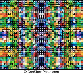 Square colorful background template
