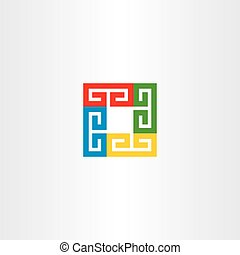 square colorful vector business logo icon