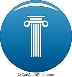 Square column icon blue vector