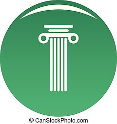 Square column icon vector green
