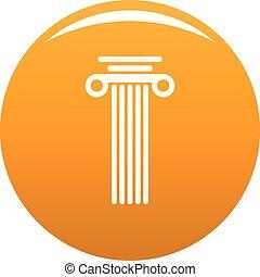 Square column icon vector orange