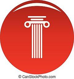 Square column icon vector red