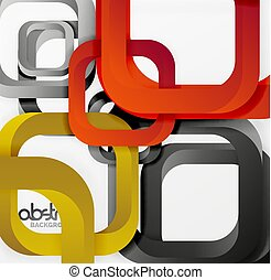 Square composition abstract background design