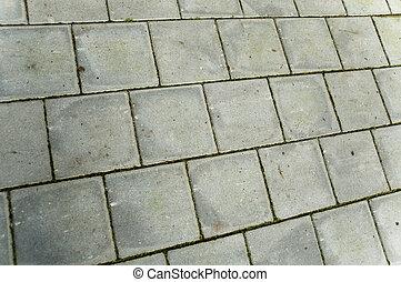 square concrete bricks