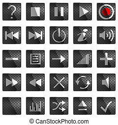 Square Control panel buttons