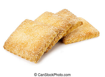 Square cookies with sugar