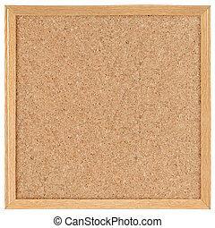 square cork board. isolated over white