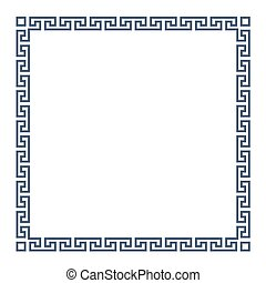 Square decorative Greek frame for design