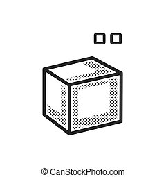 square dotted 3D print icon