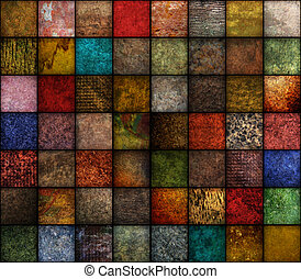 Square Earth Tone Texture Backgroun - A square, earth tone...