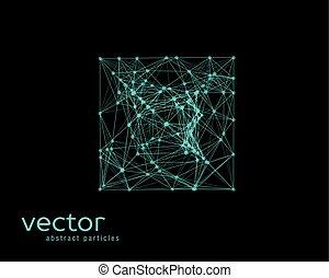 square., eenvoudig, abstract, -, illustratie, vorm, vector