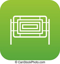 Square fence icon digital green