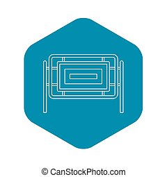 Square fence icon, outline style