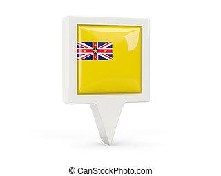 Square flag icon of niue
