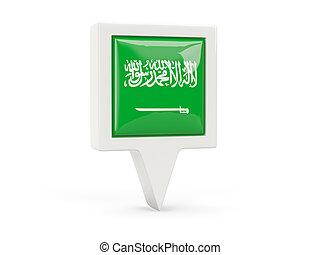 Square flag icon of saudi arabia