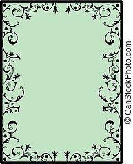 Square floral frame