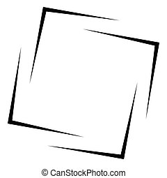 Square frame - border element isolated on white