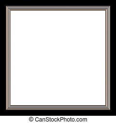 Square Frame - Silver and black square photo frame and white...