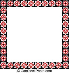 Square frame with national Ukrainian elements. eps10