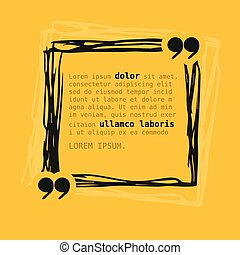 Square frame with quote on yellow background