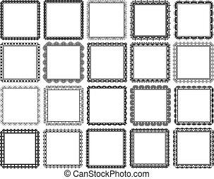 square frames - set of decorative square frames - design...