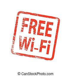 Square Free Wifi Stamp