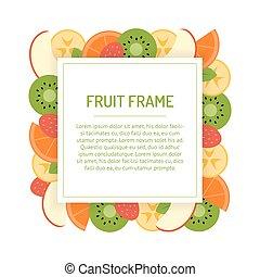 Square fruit frame