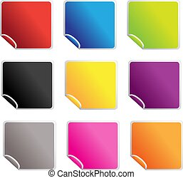 square glossy stickers