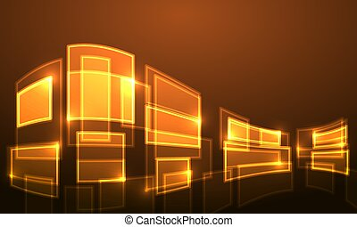 Square golden background for business