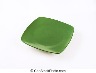 square green plate